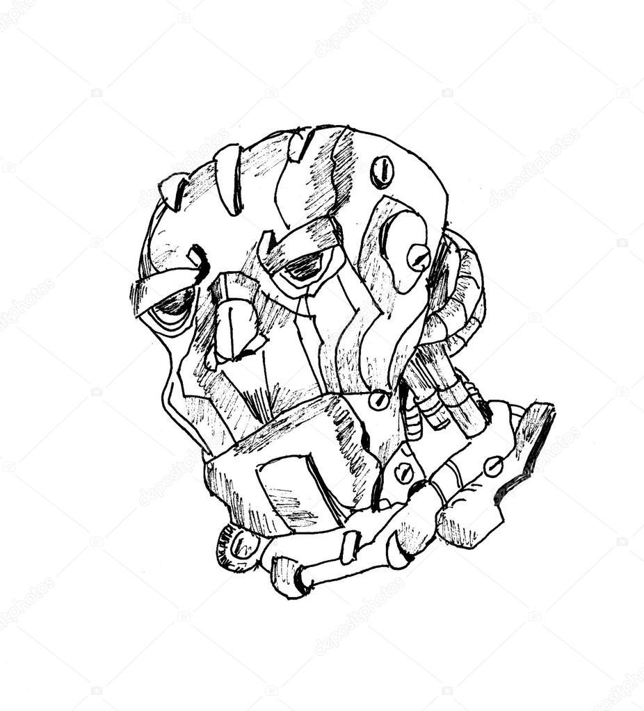 926x1023 Robot Head Clip Art Stock Photo
