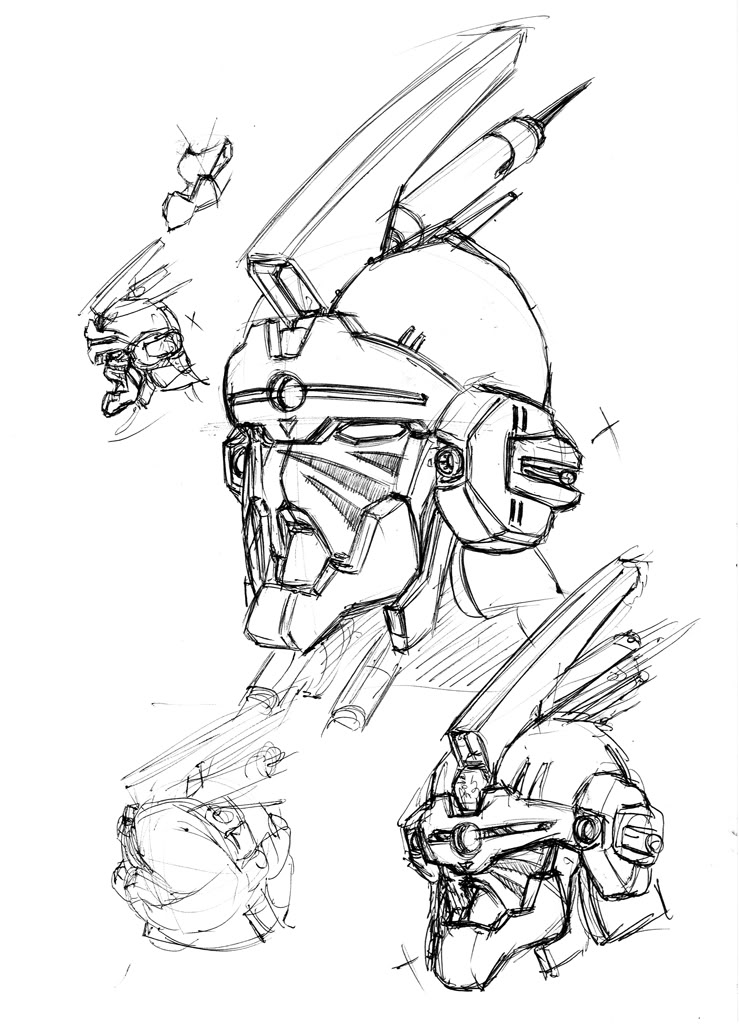739x1024 Robot Head Design Part 1 By Sinms