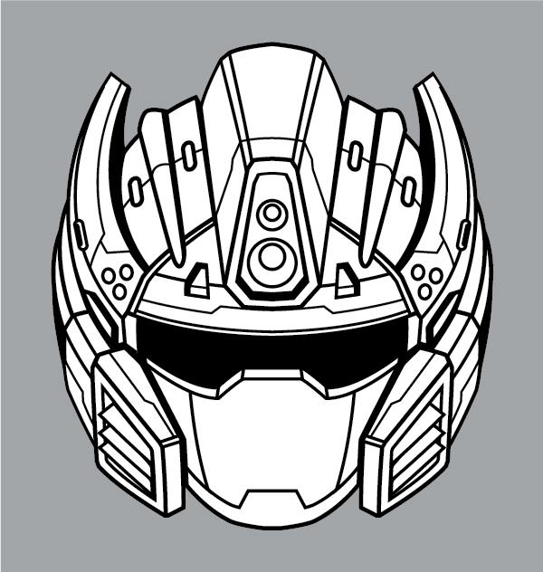 600x632 Create A Futuristic Robot Helmet In A Line Art Style In Adobe