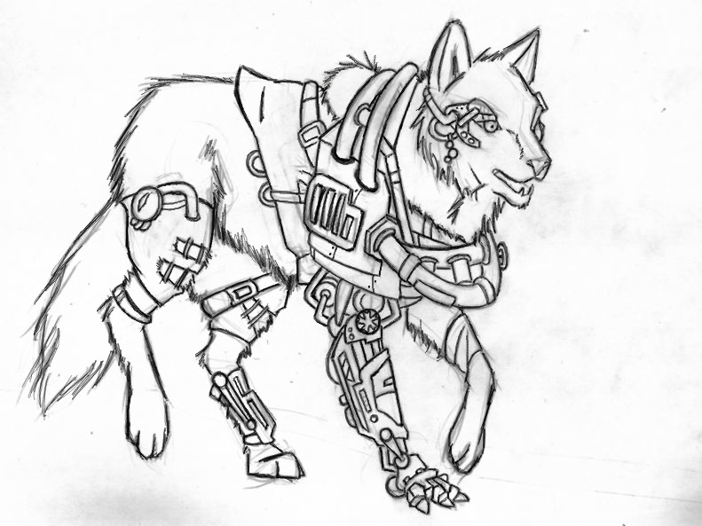 791x593 Steampunk Dog Drawing Steampunk Drawing Sketches