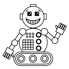 230x230 20 Cute Free Printable Robot Coloring Pages Online