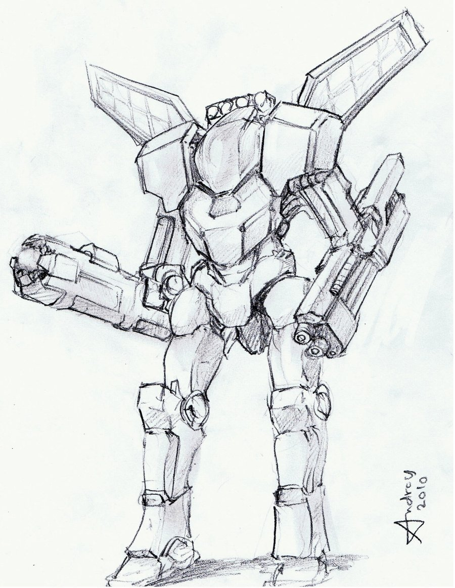 900x1162 Awesome Robot Drawings Robot Soldier By Wyn83