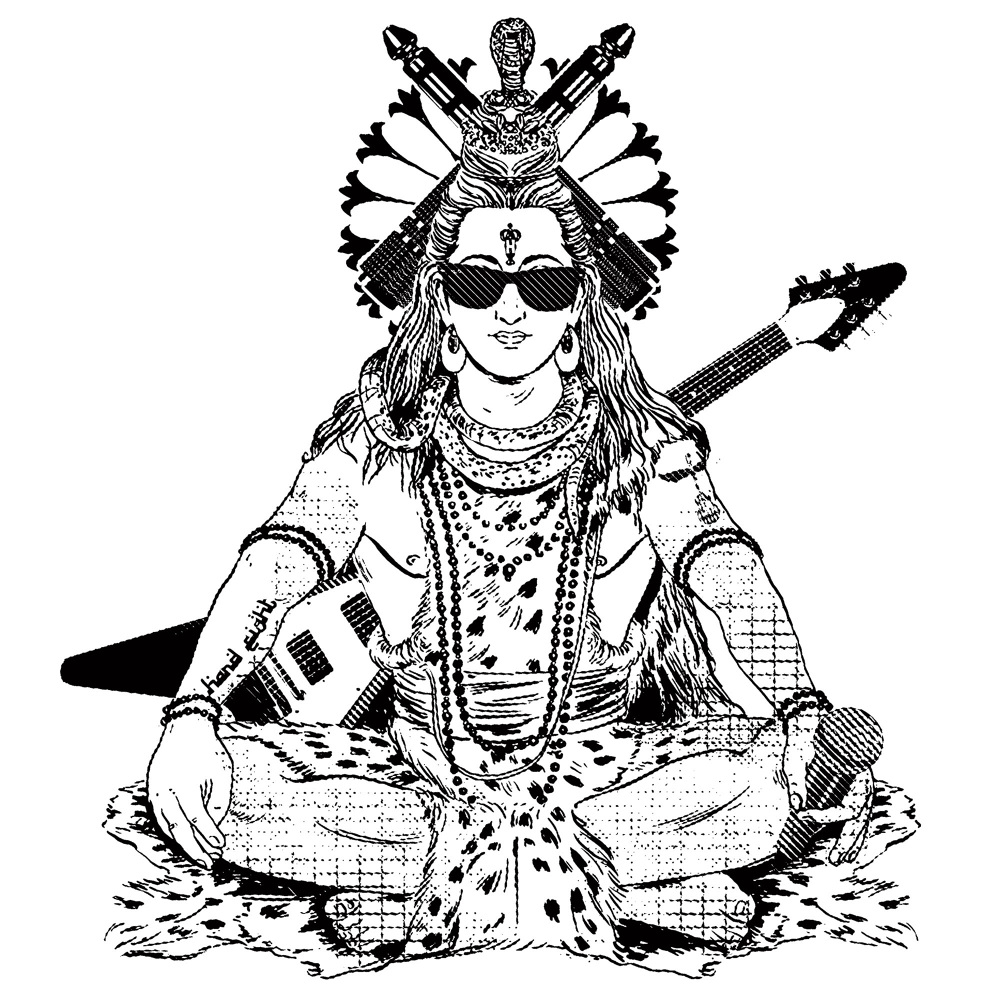 1000x1000 Rock N' Roll Shiva