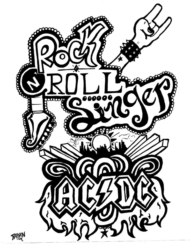 786x1017 Rock N' Roll Singer By Acdc By Dayanbinda