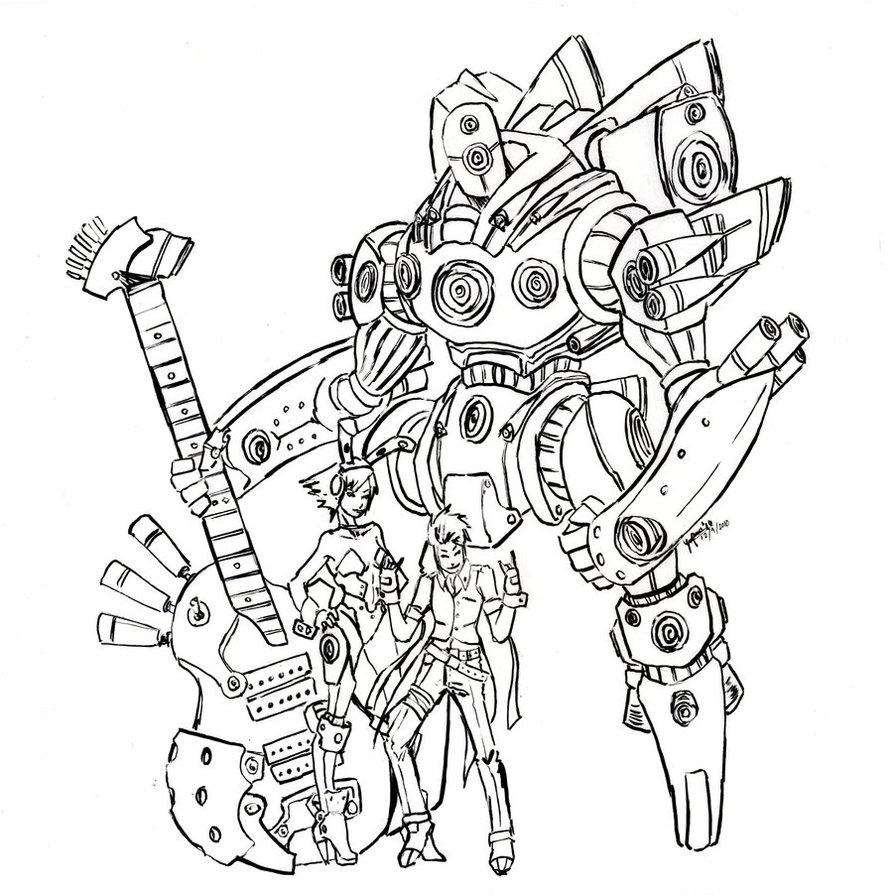 893x895 Rock N Roll Robot By Ringo Dingo