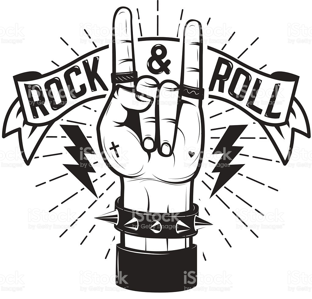 1024x980 Rock And Roll Sign Human Hand With Heavy Metal Sign Vector
