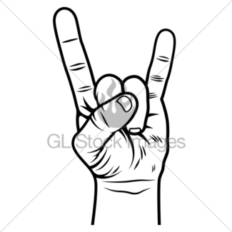 325x325 Rock And Roll Hand Sign Images Gl Stock Images