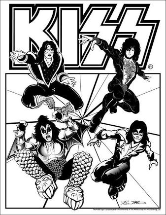 337x436 Image Result For Kiss Drawings The Rock Band Kiss