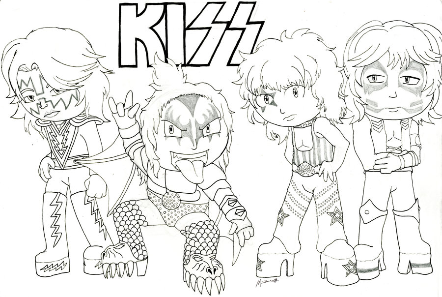 900x604 Rock And Metal Chibis Kiss By Hypothermus