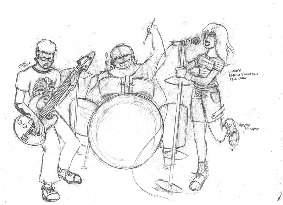900x654 The Sketch Rock Band