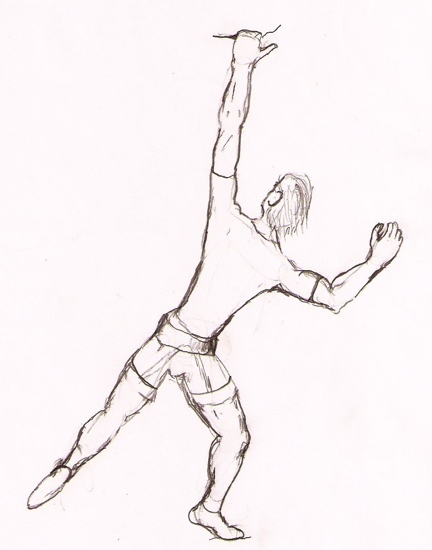 Rock Climber Drawing