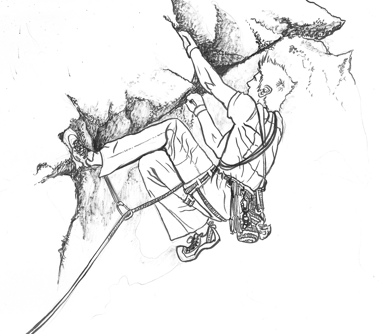 1600x1397 Colin O'Connor Illustration Rock Climbing