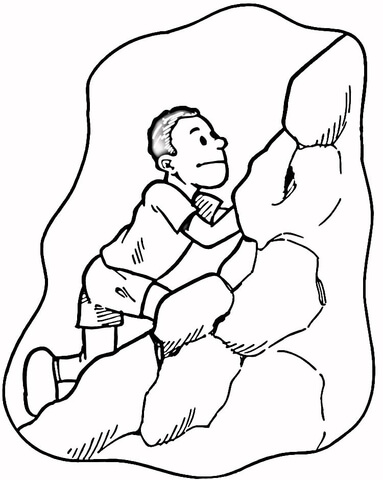 383x480 Rock Climber Coloring Page Free Printable Coloring Pages
