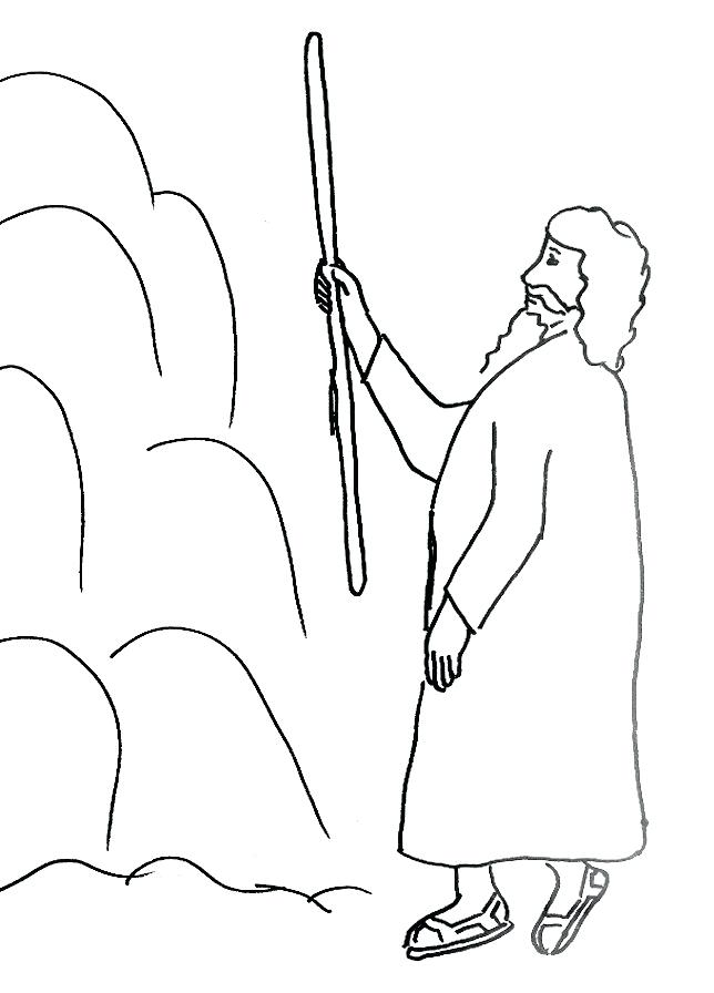 644x896 The Rock Coloring Pages And Water In The Wilderness Coloring Page