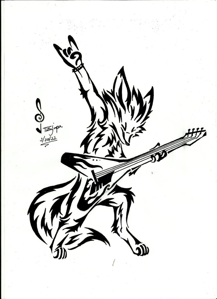 762x1048 Fox Tribal Rock And Roll By Tatujapa