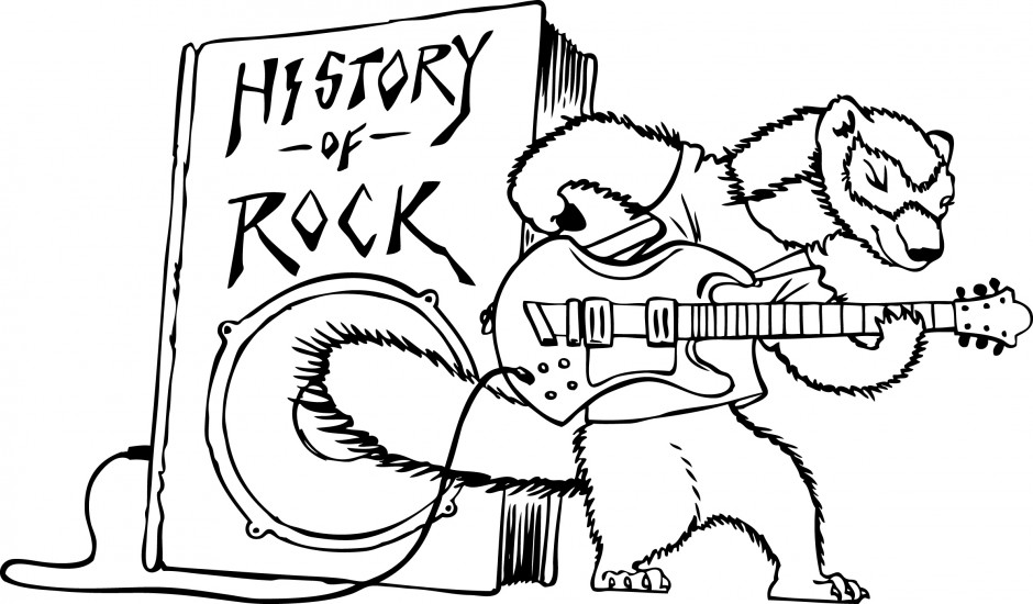 940x550 Rock And Roll Coloring Pages