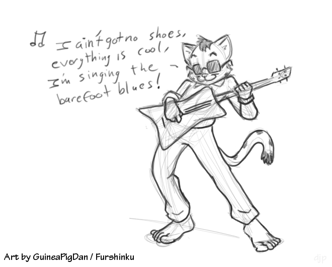 660x530 Rock N' Roll Cat By Guineapigdan