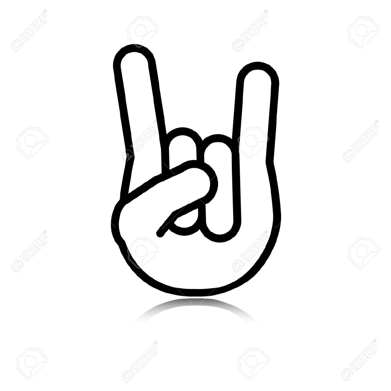 1300x1300 N Roll Hand Sign Clipart