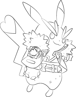 310x397 Lineart Of Pikachu Rockstar By Inukawaiilover