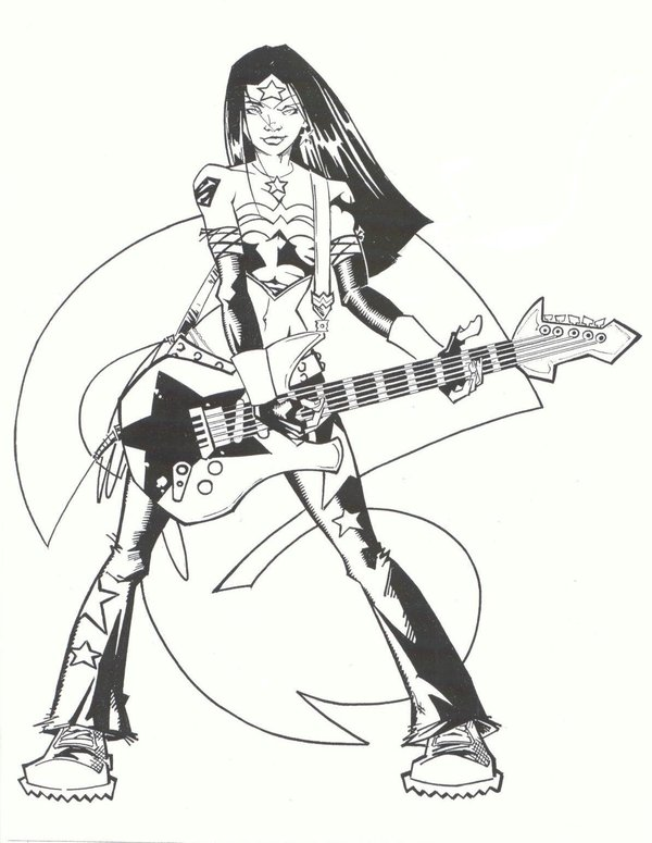 600x775 Rock Star Wonder Woman By Kidnotorious