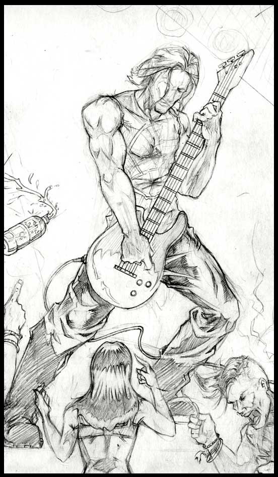 552x945 Rockstar Sketch By Smashmonk