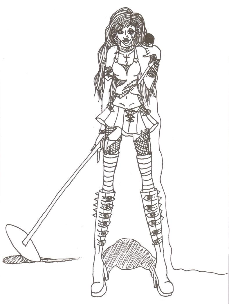 789x1044 Rockstar Tsuki Lineart By Kelala12980