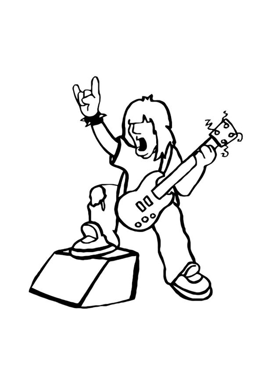 531x750 Coloring Page Rock Star