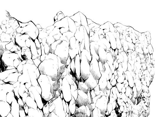 550x398 Rock Wall (Black Amp White) Brushes Set Manga Materials