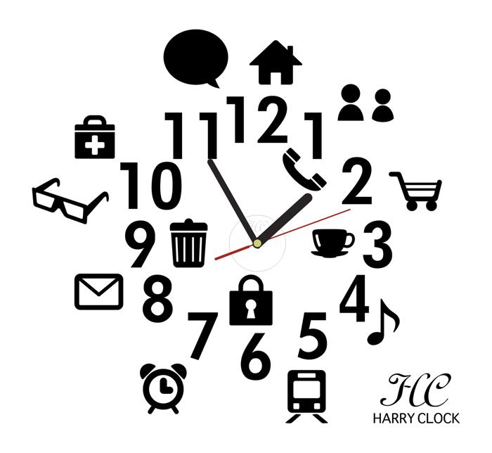 700x644 Interior Shop Harry Rakuten Global Market Wall Clock Sticker