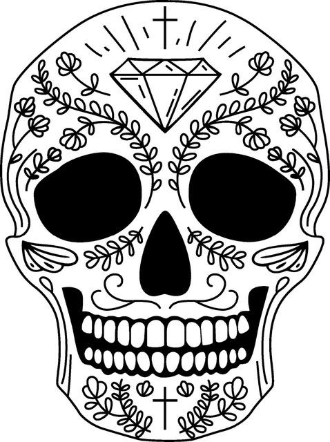478x640 Awoo Skull Wall Sticker Skull Punk Rock Creative Removable Vinyl