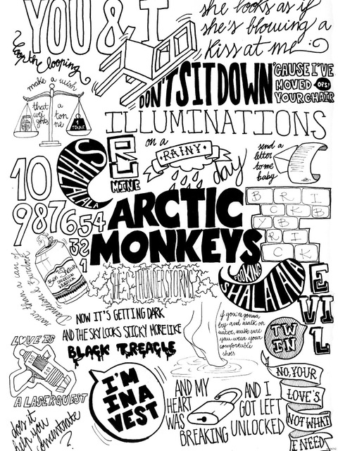 480x640 Arctic Monkeys Painting Indie Rock Band Music Bw Art Huge Print