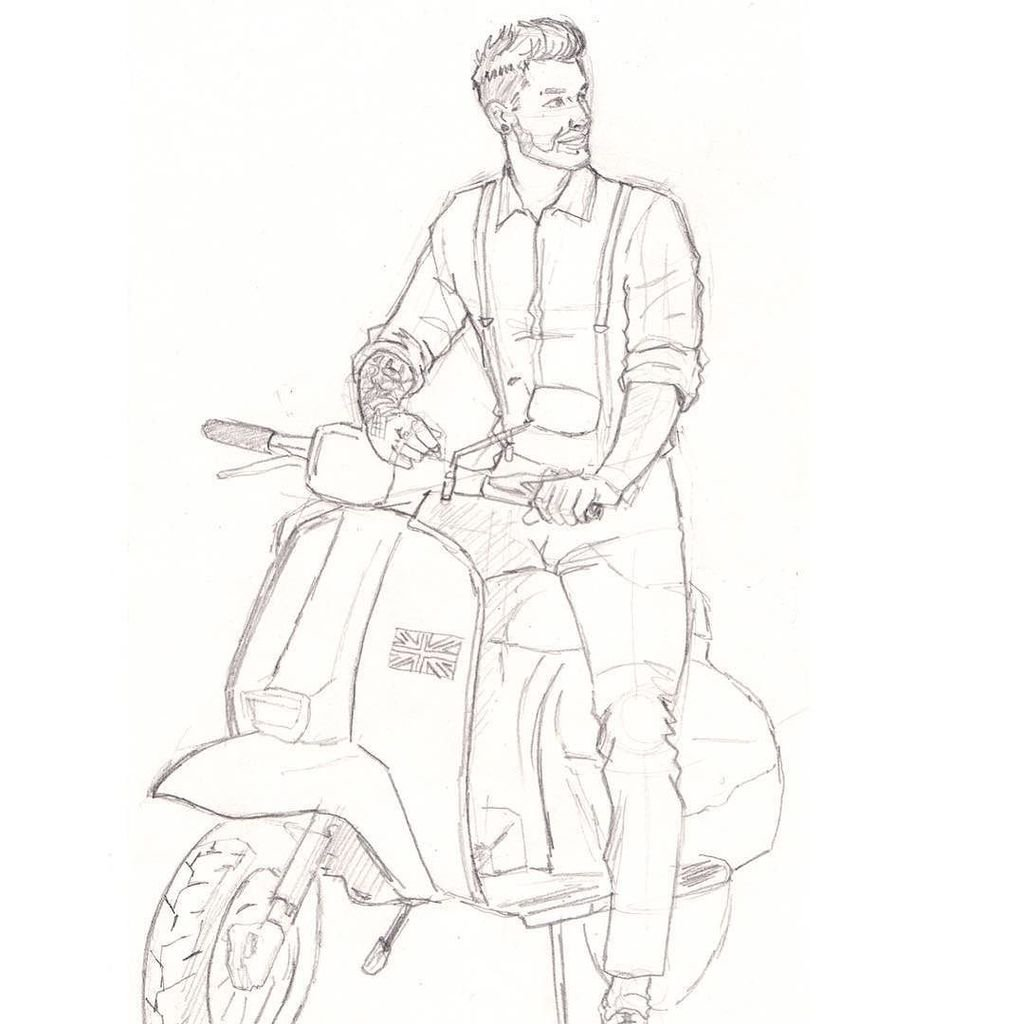 1024x1024 Steven Johnson On Twitter Chap And His Vespa