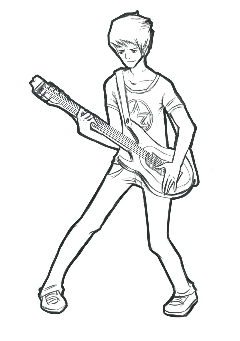 838x1187 Rocker Free Lineart By Crazy Lunar Girl