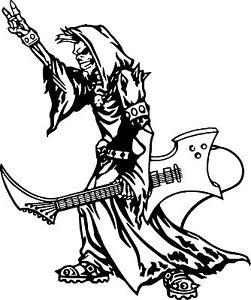 251x300 Grim Reaper Rocker Skeleton Skull Car Truck Wall Window Vinyl