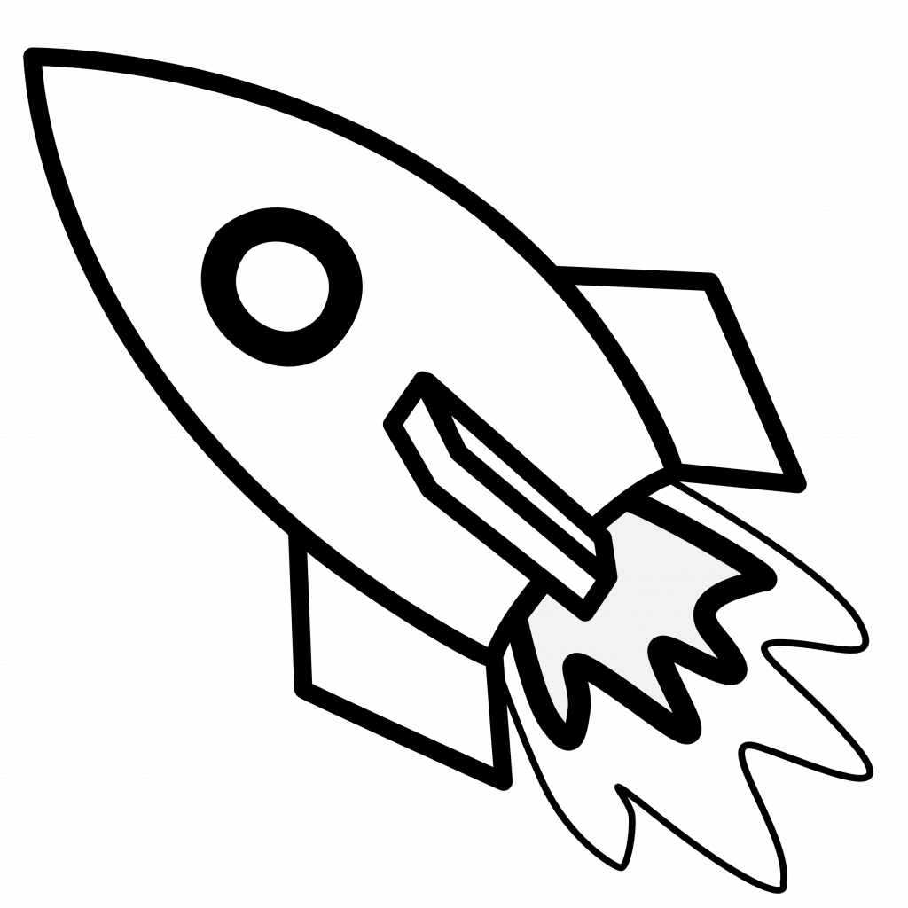 1024x1024 Cartoon Drawuring Of Rocket