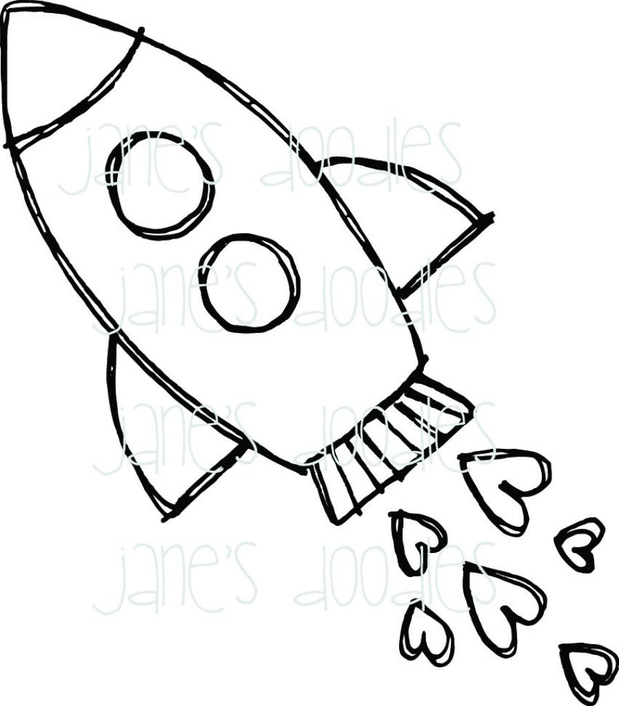 898x1024 Cartoon Rocket Drawing Rocket Ship Drawing Free Download Clip