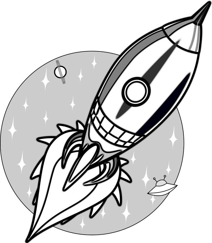 736x842 Cartoon Rocket Ships Group