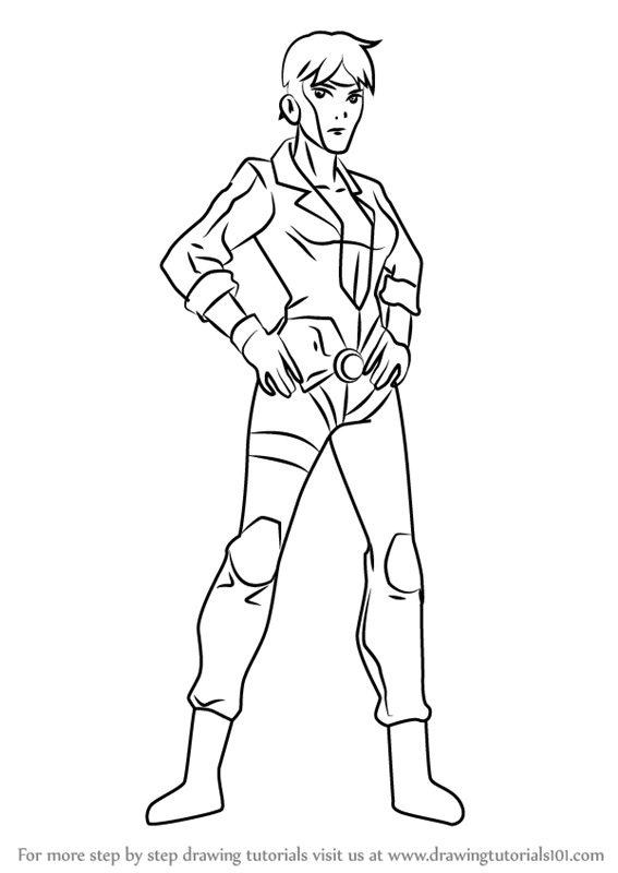 567x800 Learn How To Draw Rocket From Young Justice (Young Justice) Step