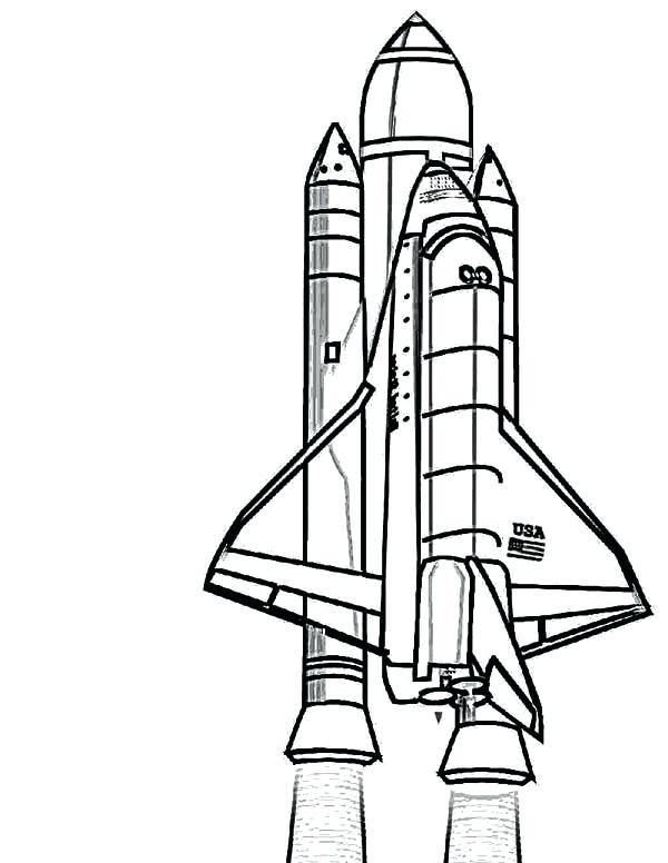600x776 New Rocket Ship Coloring Page Print Spaceship Transportation