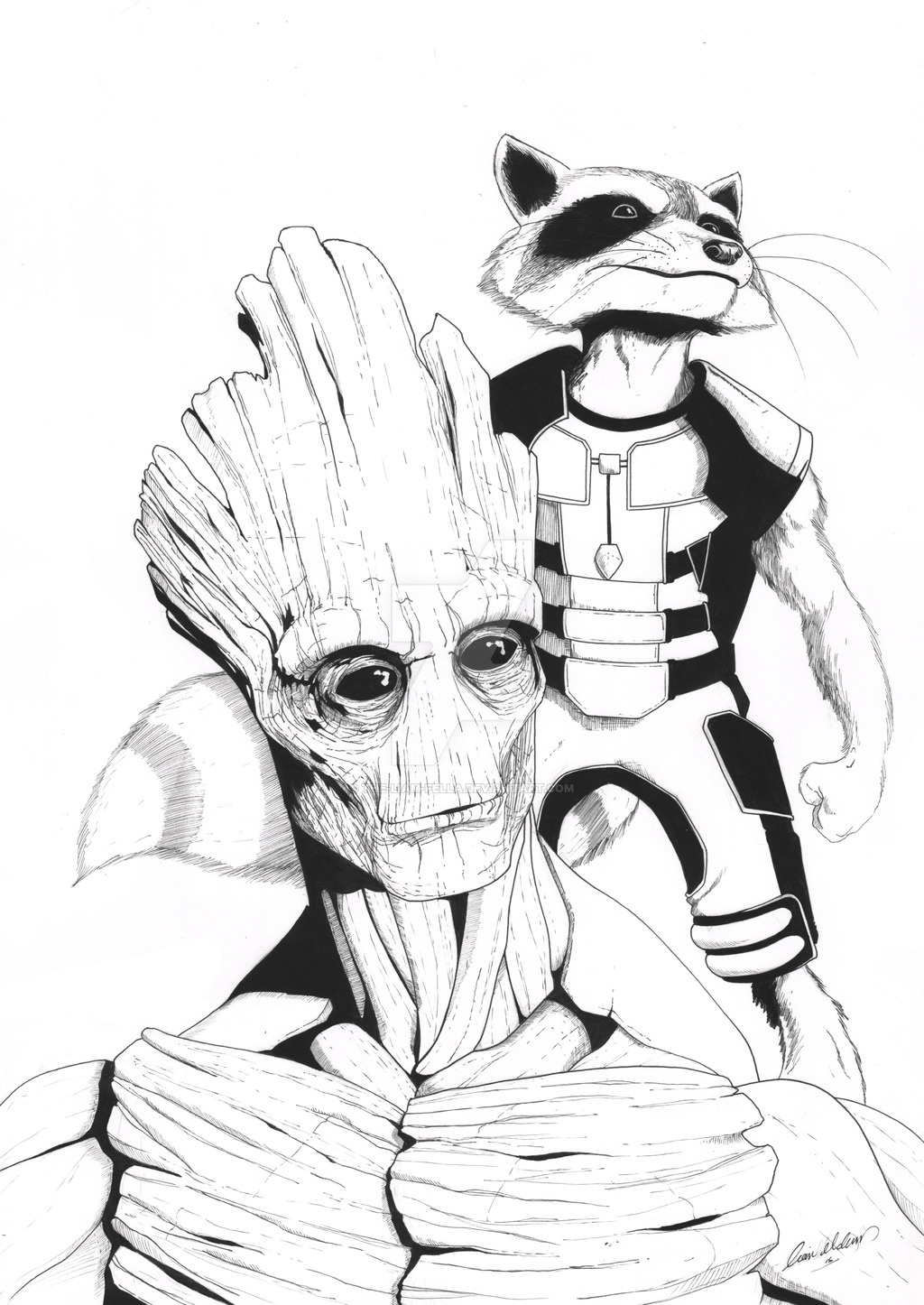 1024x1446 Rocket And Groot By The Liam Fella