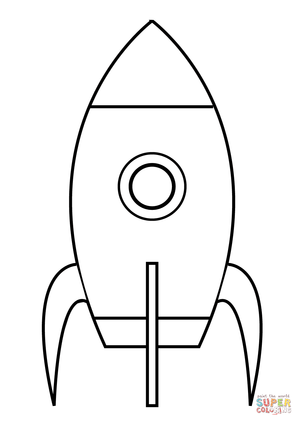 990x1400 Very Simple Rocket Coloring Page Free Printable Coloring Pages