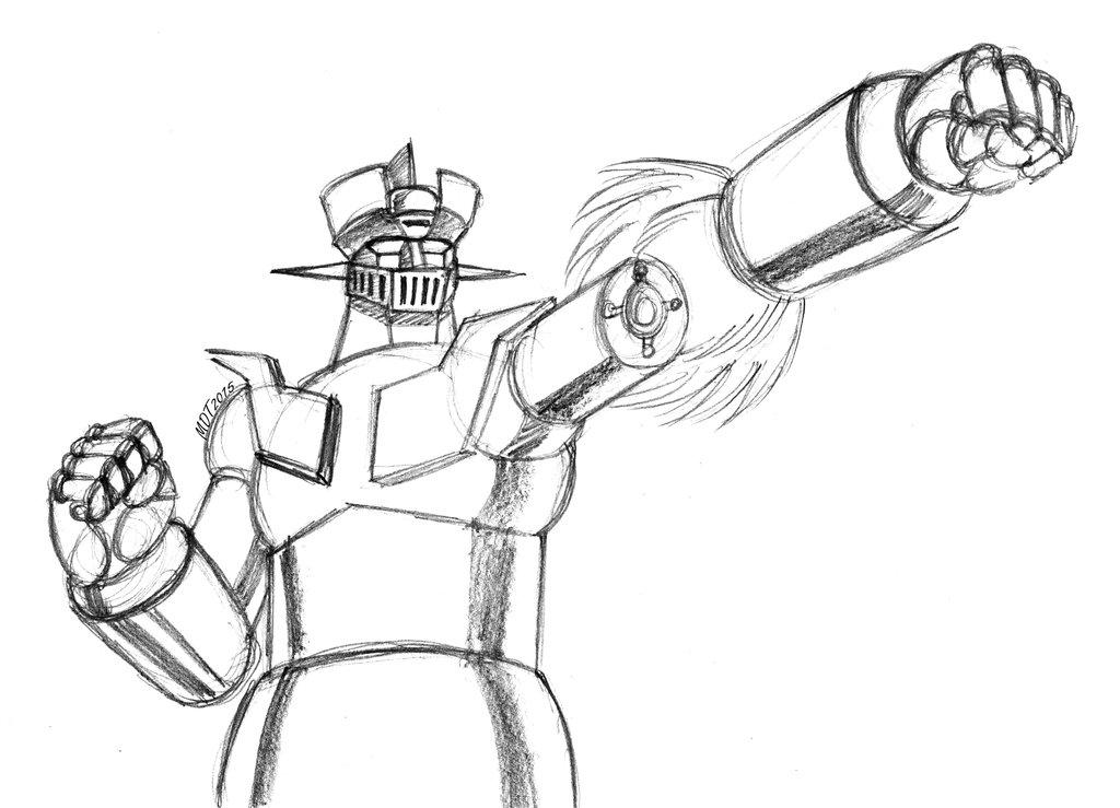 1024x739 Mazinger Z Rocket Punch By Mdtartist83