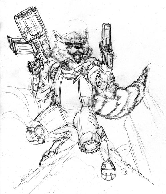 581x679 Rocket Raccoon Wip By Spiderguile
