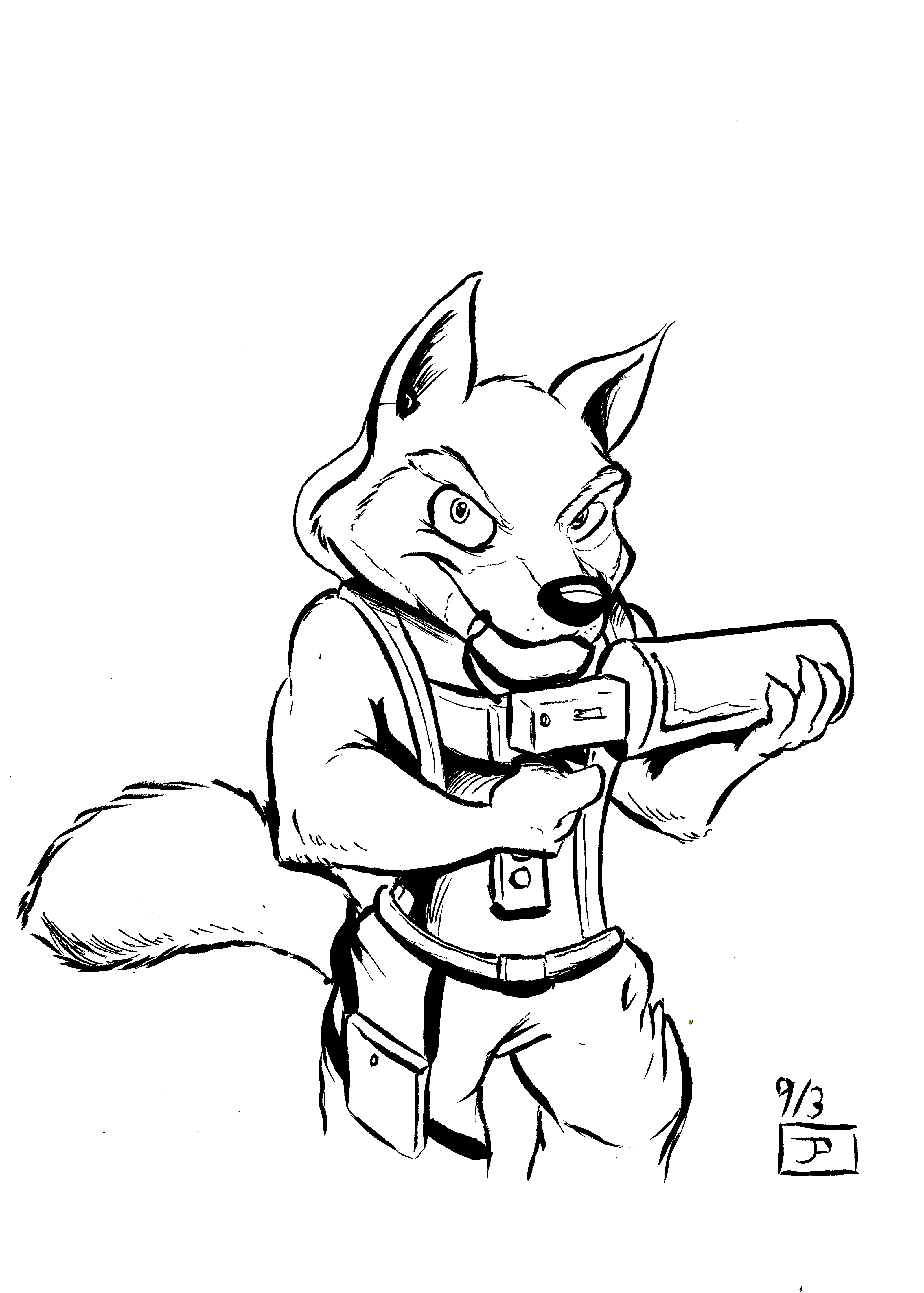 3194x4469 Rocket Wolf Weasyl