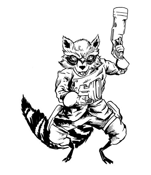 495x575 443. Rocket Raccoon Shonborn's Art Blog
