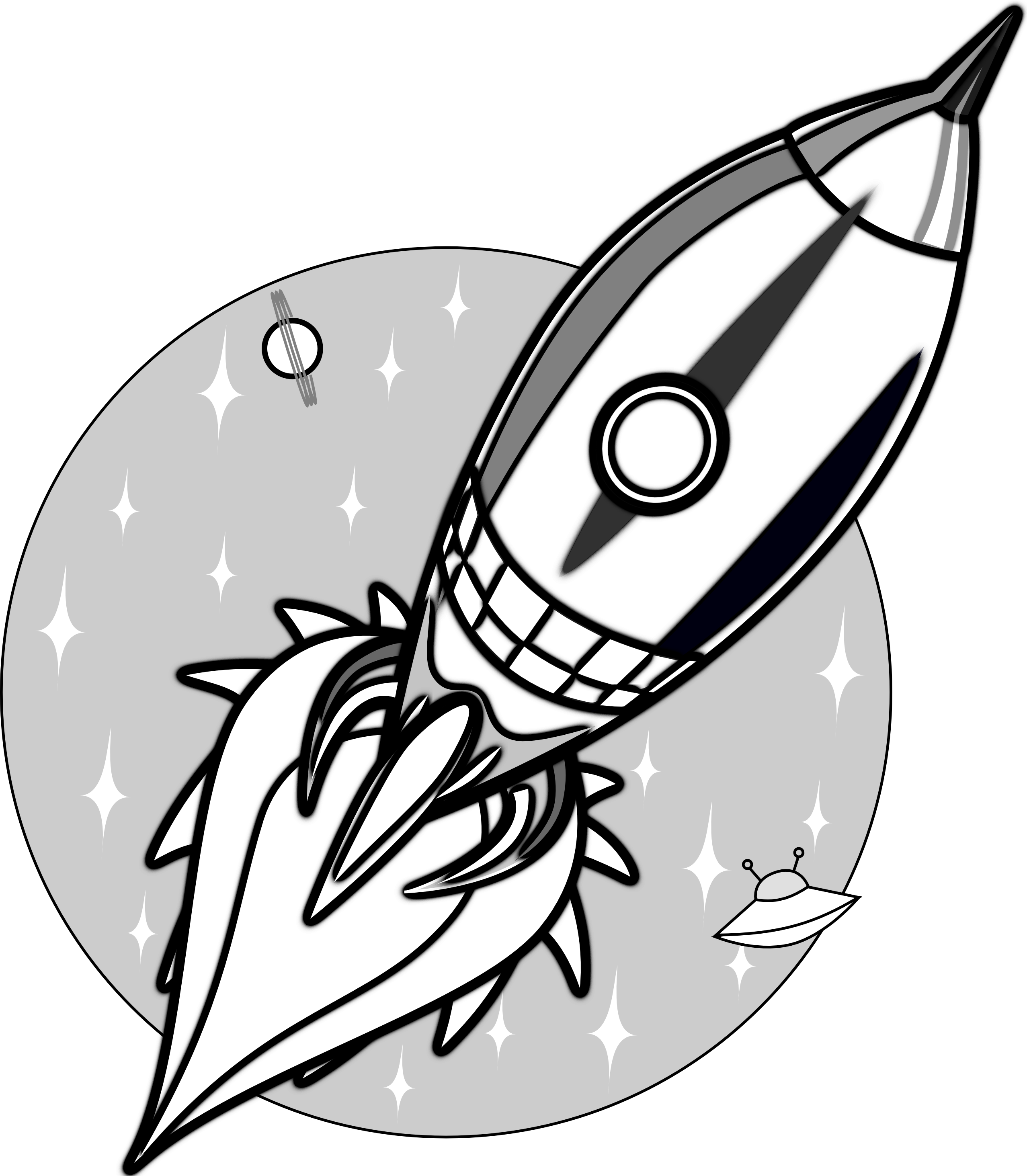 2555x2926 Retro Space And Rocket Tattoo