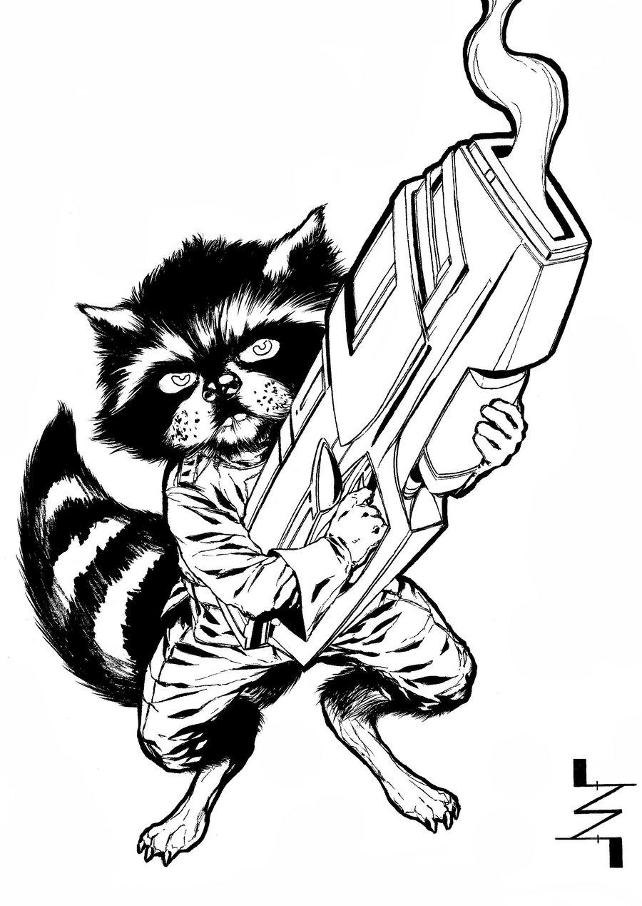 900x1269 Rocket Raccoon By Albertonavajo