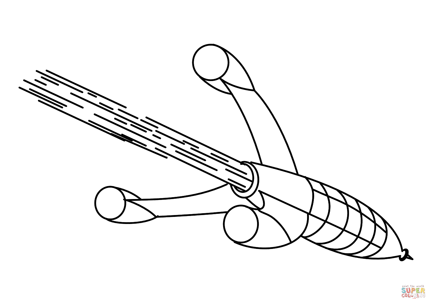 1400x990 Rocket In A Outer Space Coloring Page Free Printable Coloring Pages