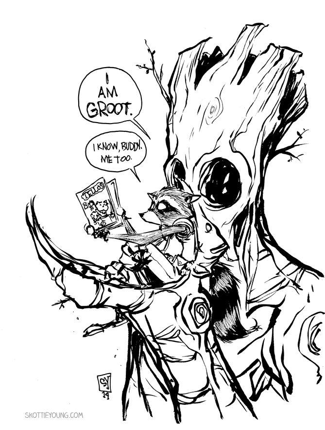 Rocket Raccoon Drawing