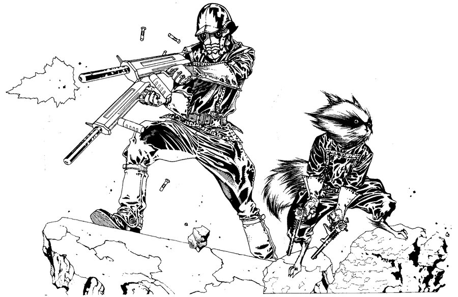 Rocket Raccoon Drawing at GetDrawings.com | Free for personal use ...